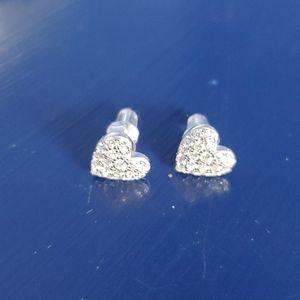 Brand new heart studs